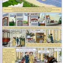 Une des planches du volume À l'ombre des jeunes filles en fleurs de la bande-dessinée de la Recherche (Delcourt Éditeur).