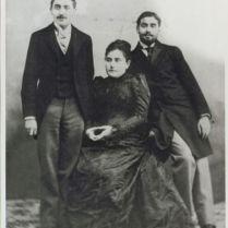Marcel Proust, sa mère Jeanne C. Weil et son frère Robert
